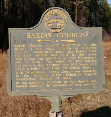 Sardis Church Marker image. Click for full size.