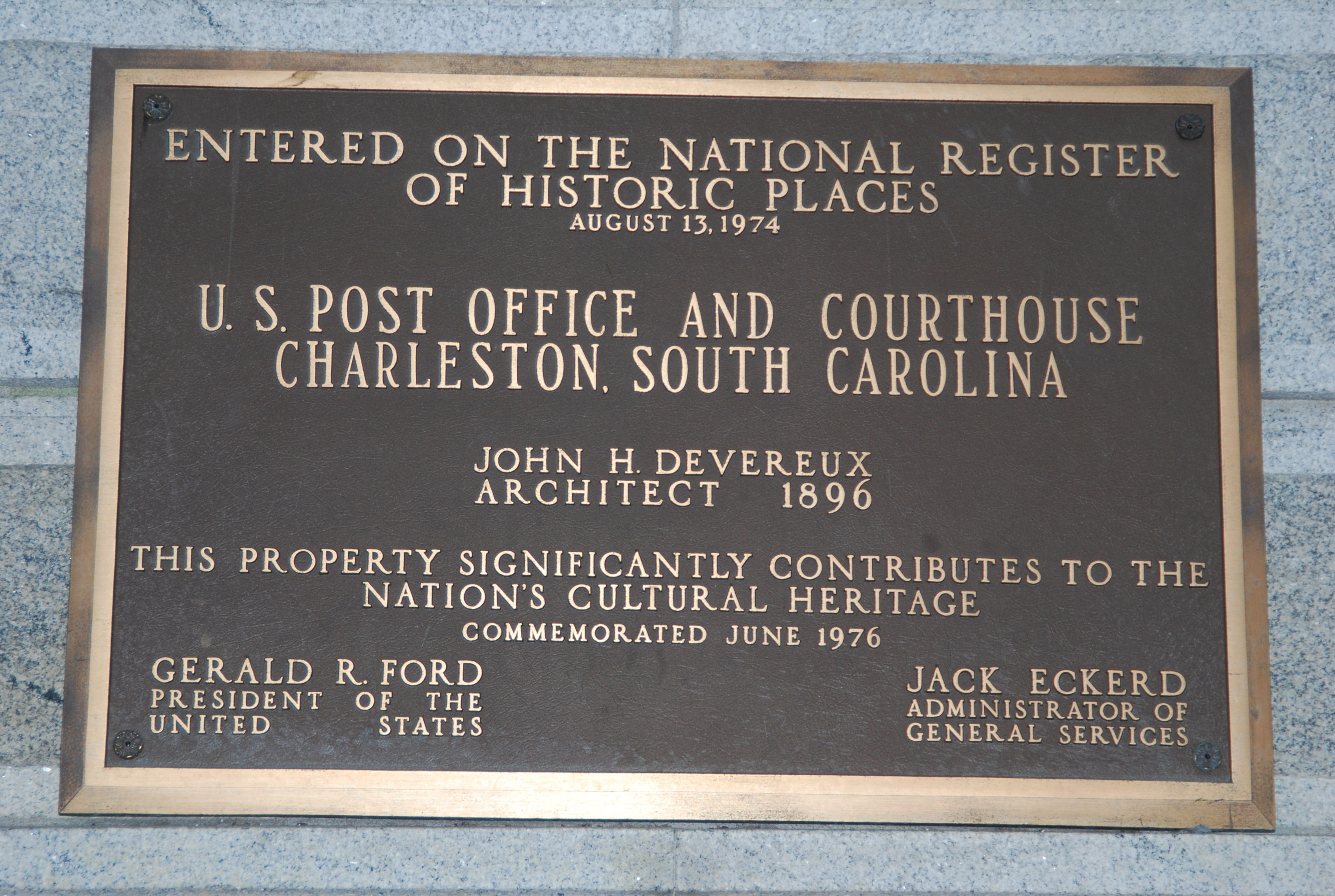 U.S. Post Office and Courthouse Marker