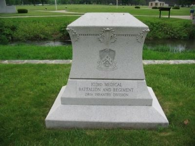 103rd Medical Battalion and Regiment Memorial image. Click for full size.