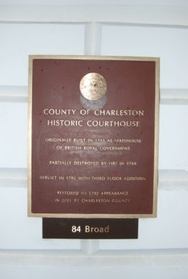 Charleston County Courthouse Marker image. Click for full size.