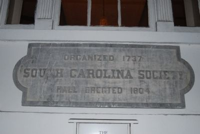 The South Carolina Society Hall image. Click for full size.
