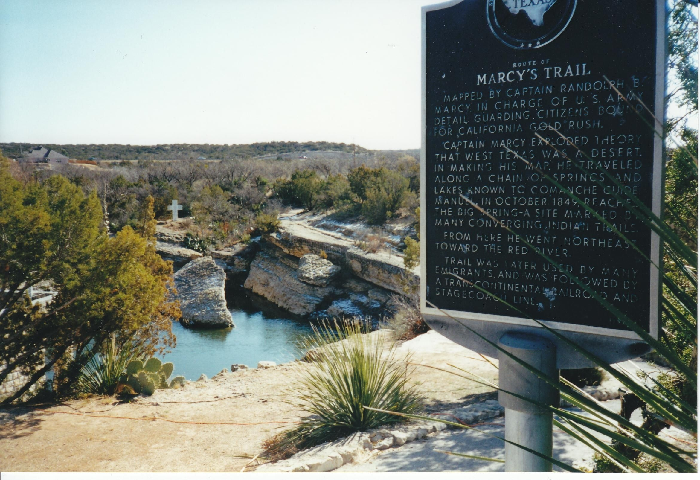 Route of Marcy's Trail Marker