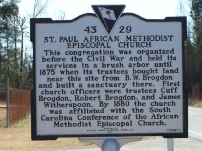 St. Paul African American Methodist Episcopal Church Marker image. Click for full size.