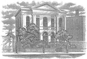 Old sketch of St. Andrew's Hall image. Click for full size.
