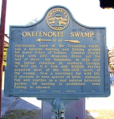 Okefenokee Swamp Marker image. Click for full size.