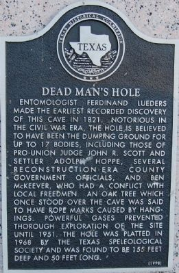 Dead Man's Hole Marker image. Click for full size.