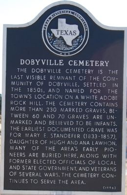 Dobyville Cemetery Marker image. Click for full size.