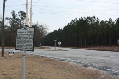 Church Marker seen at the intersection of Starks Ferry Road and Pinewood Road (State Road 120) image. Click for full size.