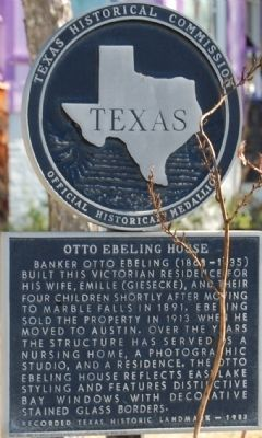 Otto Ebeling House Marker image. Click for full size.