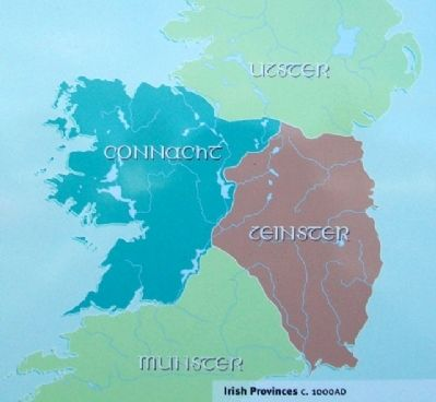 Irish Provinces, 1000 AD, Depiction on Marker image. Click for full size.