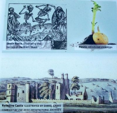 Potato, Famine, and Rathcline Castle on Marker image. Click for full size.