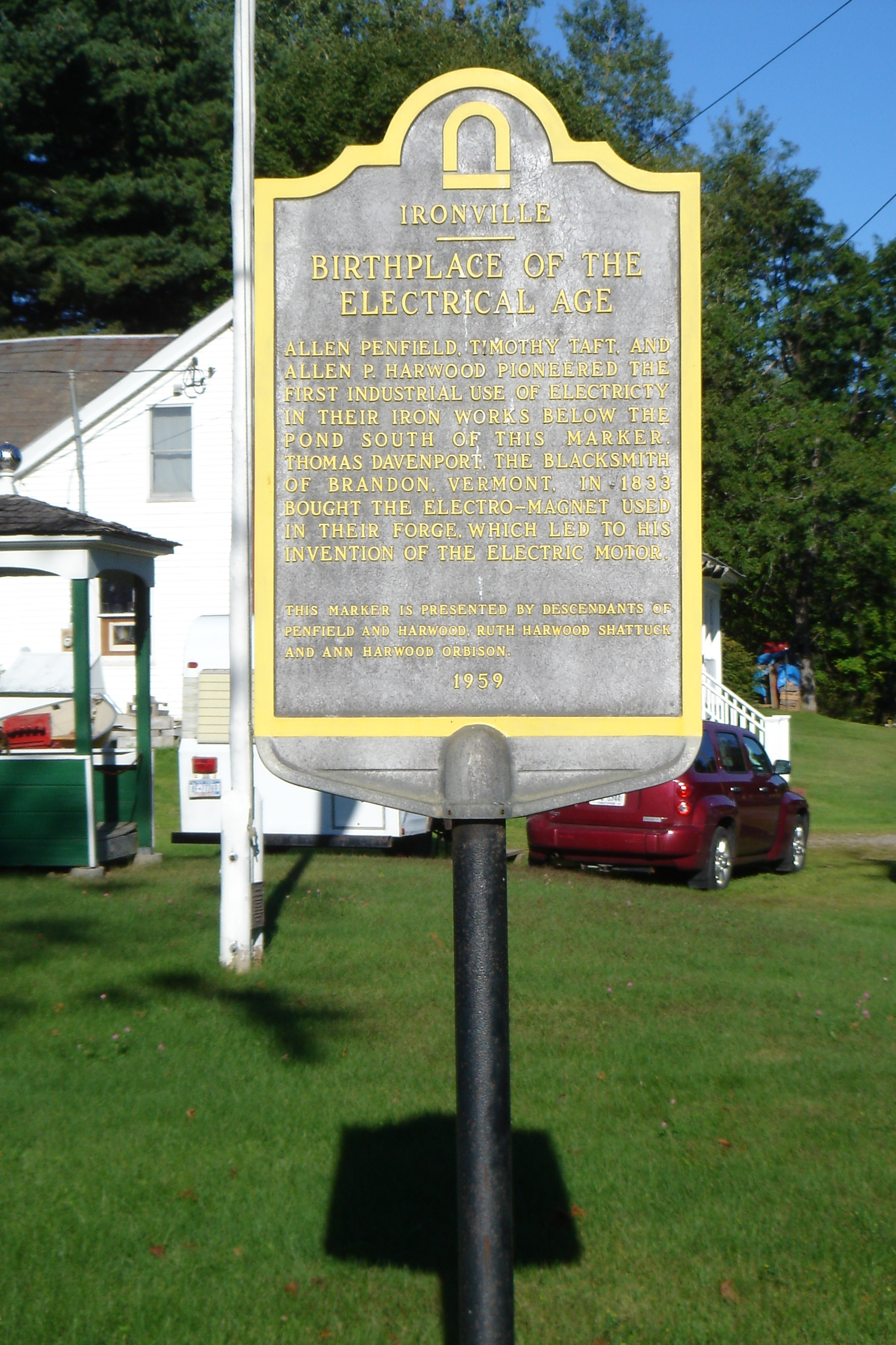 Ironville - Birthplace of the Electrical Age Marker