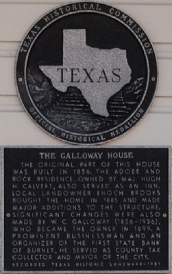 The Galloway House Marker image. Click for full size.