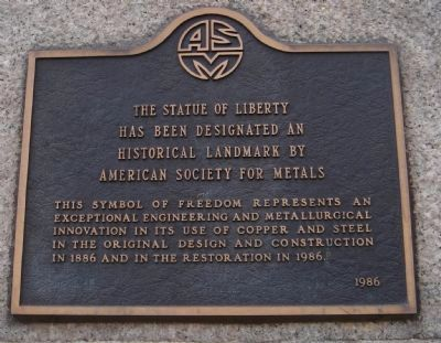American Society for Metals Historical Landmark - 1986 image. Click for full size.