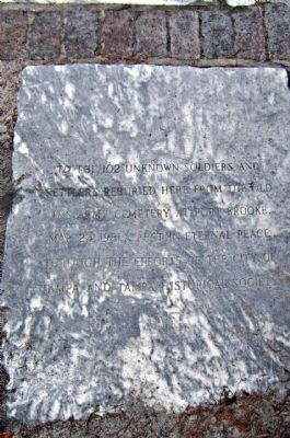 Ft. Brooke, Mass Grave Marker image. Click for full size.
