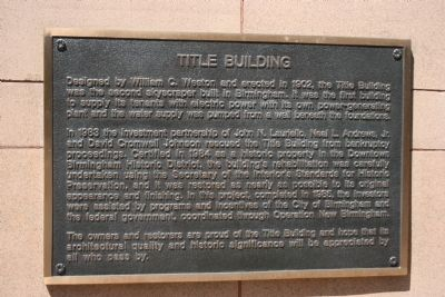 Title Building Marker image. Click for full size.