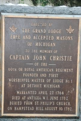 Captain John Christie Marker image. Click for full size.