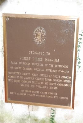 Robert Gibbes Marker image. Click for full size.