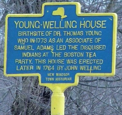 Young-Welling House Marker image. Click for full size.