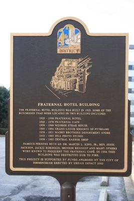 Fraternal Hotel Building Marker image. Click for full size.