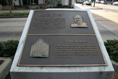 Temple Wilson Tutwiler, II / Tutwiler Hotel Marker image. Click for full size.