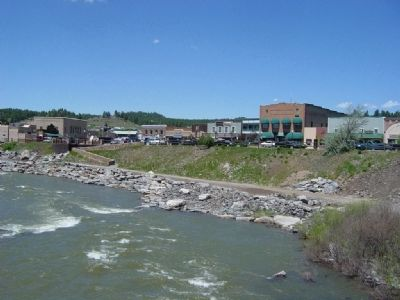 San Juan River and Downtown Pagosa Springs image. Click for full size.
