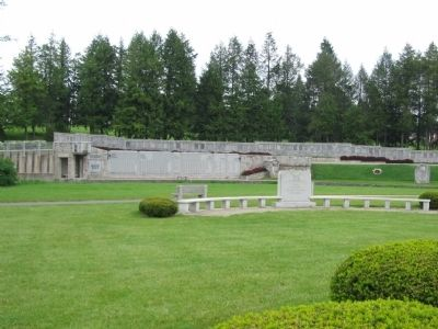 110th Infantry Memorial in front of the 28th Division Shrine image. Click for full size.