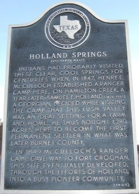 Holland Springs Marker image. Click for full size.