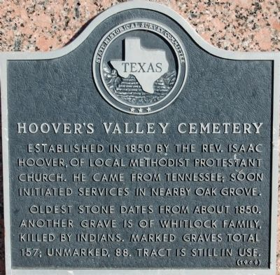Hoover's Valley Cemetery Marker image. Click for full size.