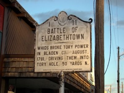 Battle of Elizabethtown Marker image. Click for full size.