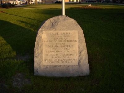 Sallie Salter Monument image. Click for full size.