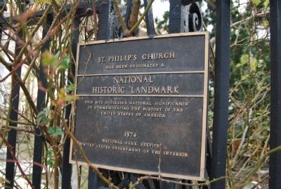 St. Philips Church Marker # 73001695 image. Click for full size.