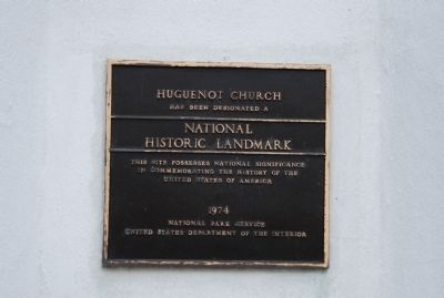 Huguenot Church Marker image. Click for full size.