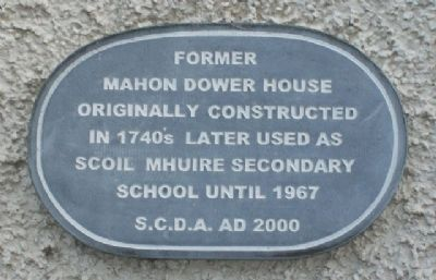 Mahon Dower House Marker image. Click for full size.