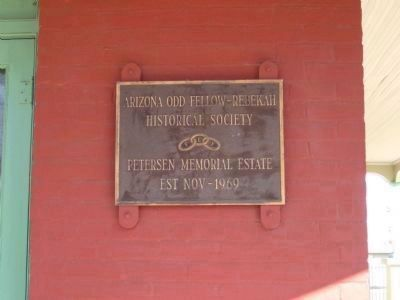Plaque Mounted Near the Front Door of the House image. Click for full size.