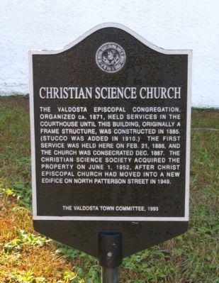 Christian Science Church Marker image. Click for full size.