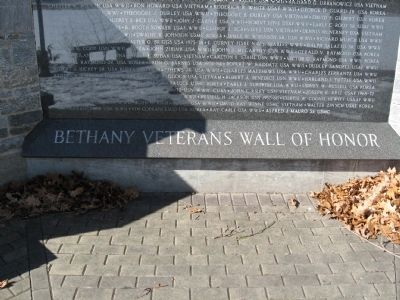 Bethany Veterans Wall Of Honor image. Click for full size.