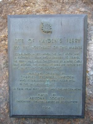 Site of Hayden's Ferry Marker image. Click for full size.