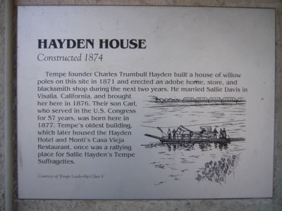 Hayden House Marker image. Click for full size.