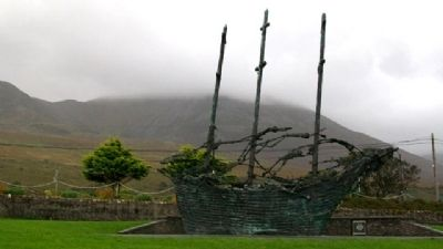 National Famine Memorial Coffin Ship image. Click for full size.