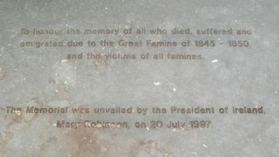 National Famine Memorial In Honor image. Click for full size.