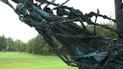 National Famine Memorial Coffin Ship Bow image. Click for full size.