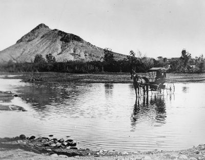 Salt River Near Tempe and Site of Hayden's Ferry image. Click for full size.
