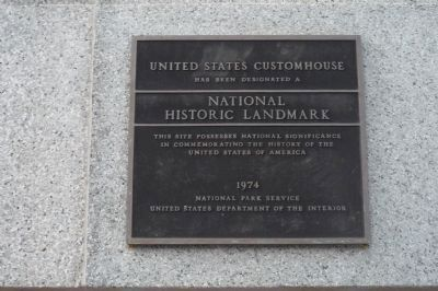 United States Customhouse Marker image. Click for full size.