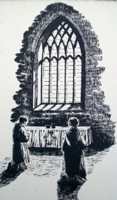 East Window Depiction on Marker image. Click for full size.