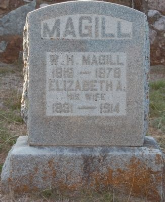 William H and Elizabeth Magill Headstone image. Click for full size.
