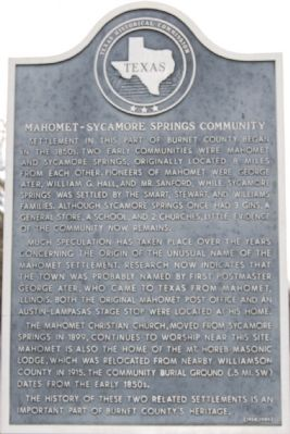 Mahomet-Sycamore Springs Community Marker image. Click for full size.