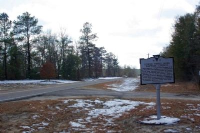 Lower Three Runs Baptist Church Marker, looking south along Patterson Mill Road image. Click for full size.