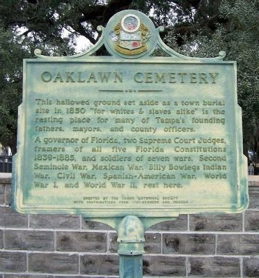 Oaklawn Cemetery Marker image. Click for full size.