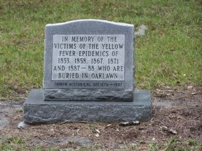 Oaklawn Cemetery , Yellow Fever Victims Memorial image. Click for full size.